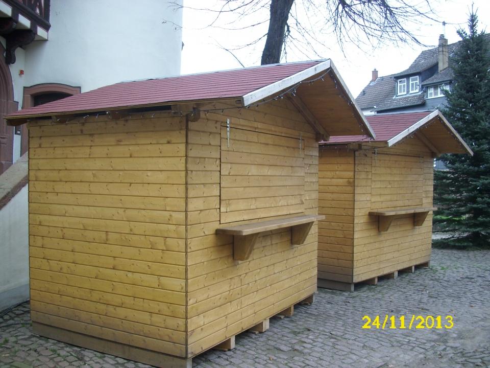 Die Verkaufsbude soll als Hütte dienen.