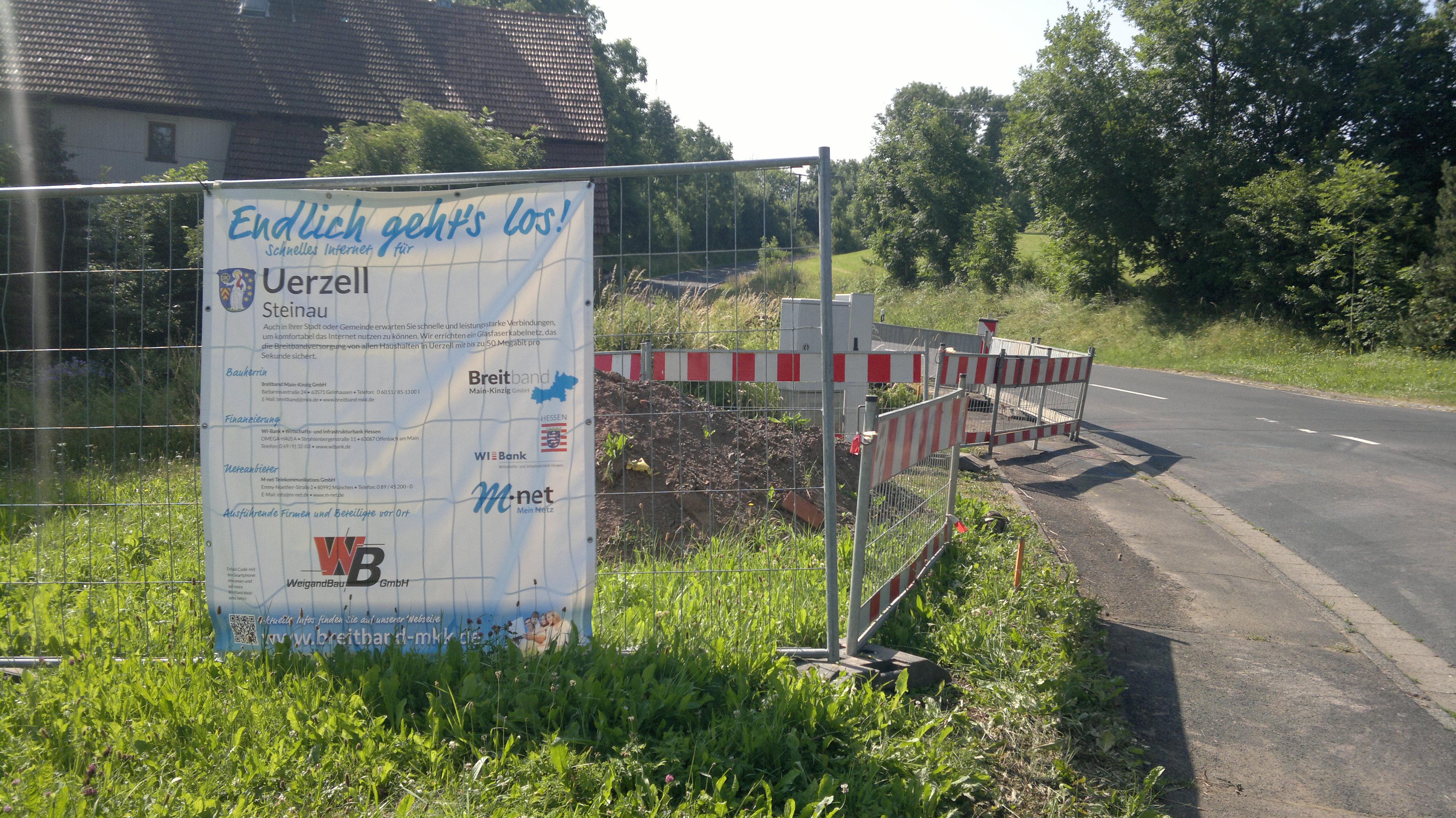 Im Steinauer Stadtteil Uerzell hat der Breitbandausbau begonnen.