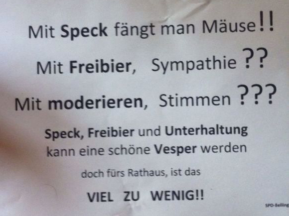 Handzettel SPD