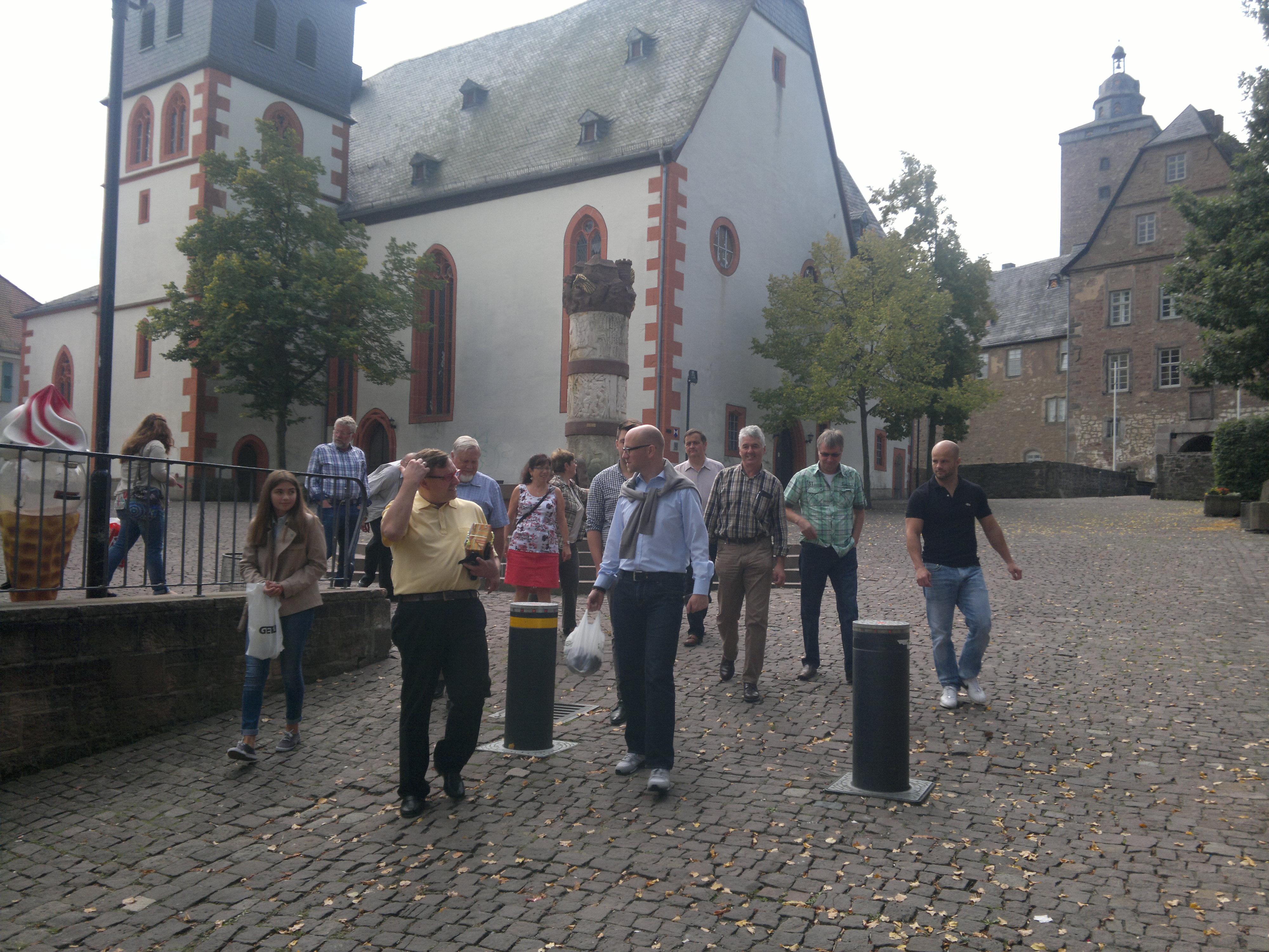 Antrittsbesuch bei Steinauer Bürgermeister Malte Jörg Uffeln